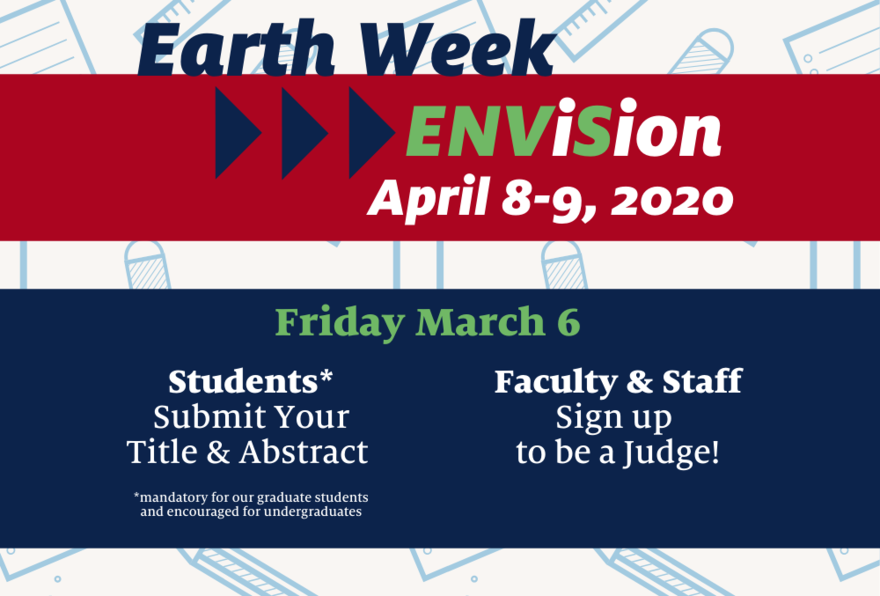 ENViSion will be April 8 and 9