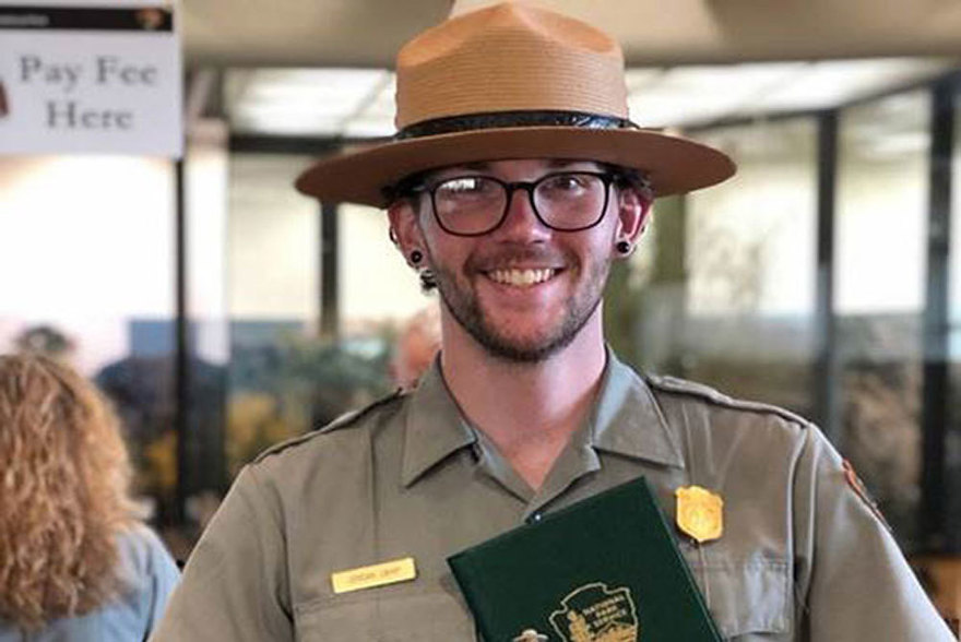 ENVS major Jordan Camp is a National Park Ranger