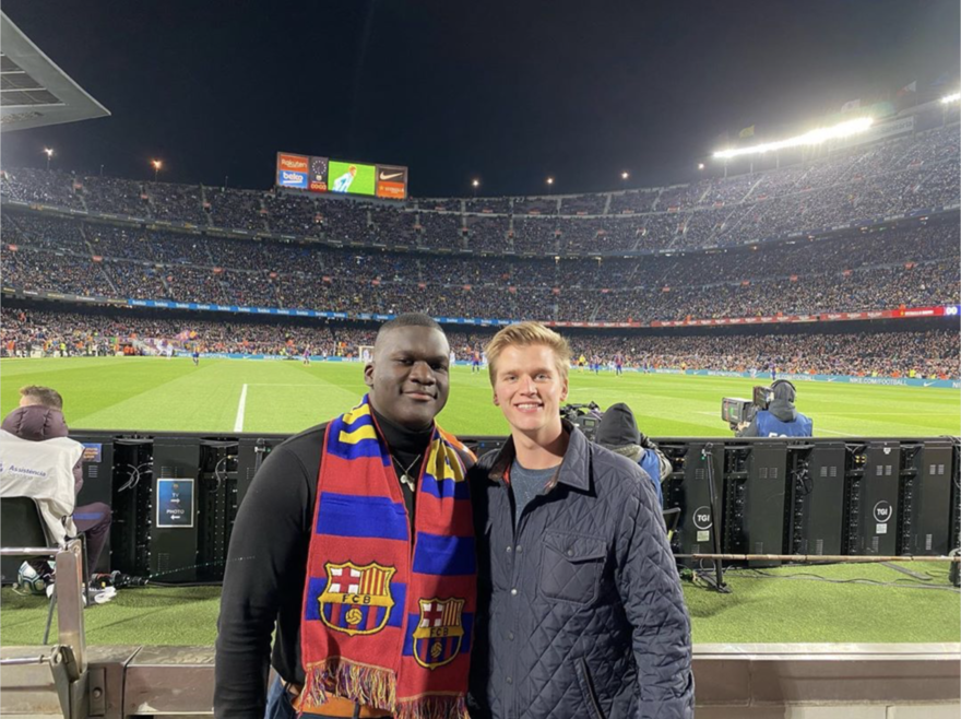 2 MUDECers at FC Barcelona game