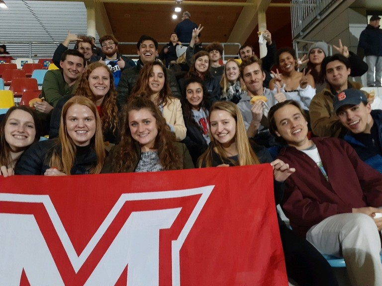 MUDEC students at the FC Differdange soccer game