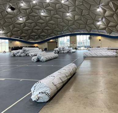 Image of rolls of carpet.
