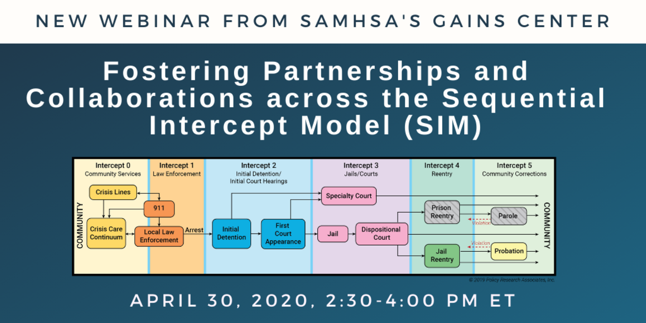 New Webinar: Fostering Partnerships and Collaborations across the Sequential Intercept Model (SIM)