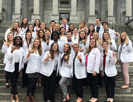 Students at the S.C. Statehouse