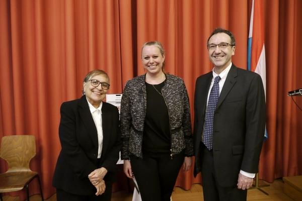 Dr. Ornelas, Minister Dieschbourg, Dean Leterre