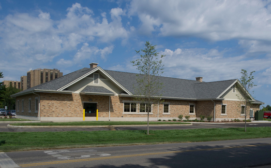 Photo of the Wellness Center on Notre Dame's campus.