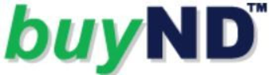 Graphic image of buy ND logo