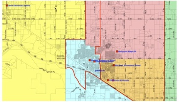 Boundaries for Fruita elementary schools, effective 2020-21.
