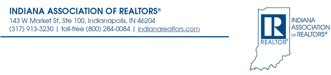Indiana Association of REALTORS® header.