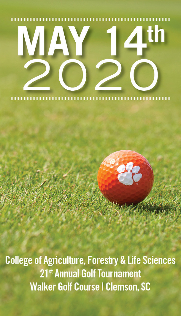 May 14th 2020. College of Agricukture, Forestry and Life Sciences. 21st Annual Golf Tournament. Walker Golf Course, Clemson, SC