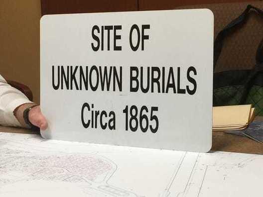 Site of Unknown Burials Circa 1865