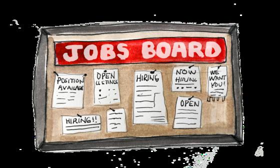 jobs board illustration