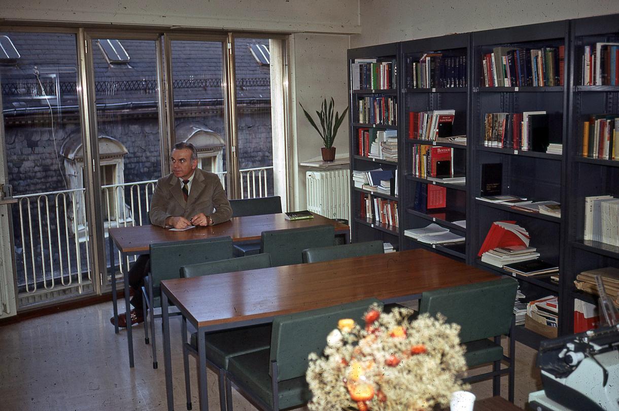John Dolibois in the Center's Library-1971