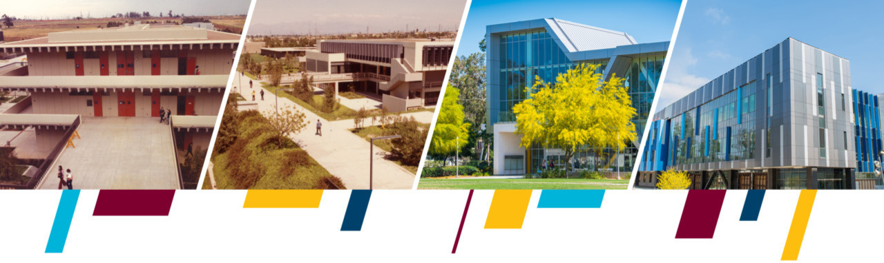 Compilation of images of CSUDH buildings.