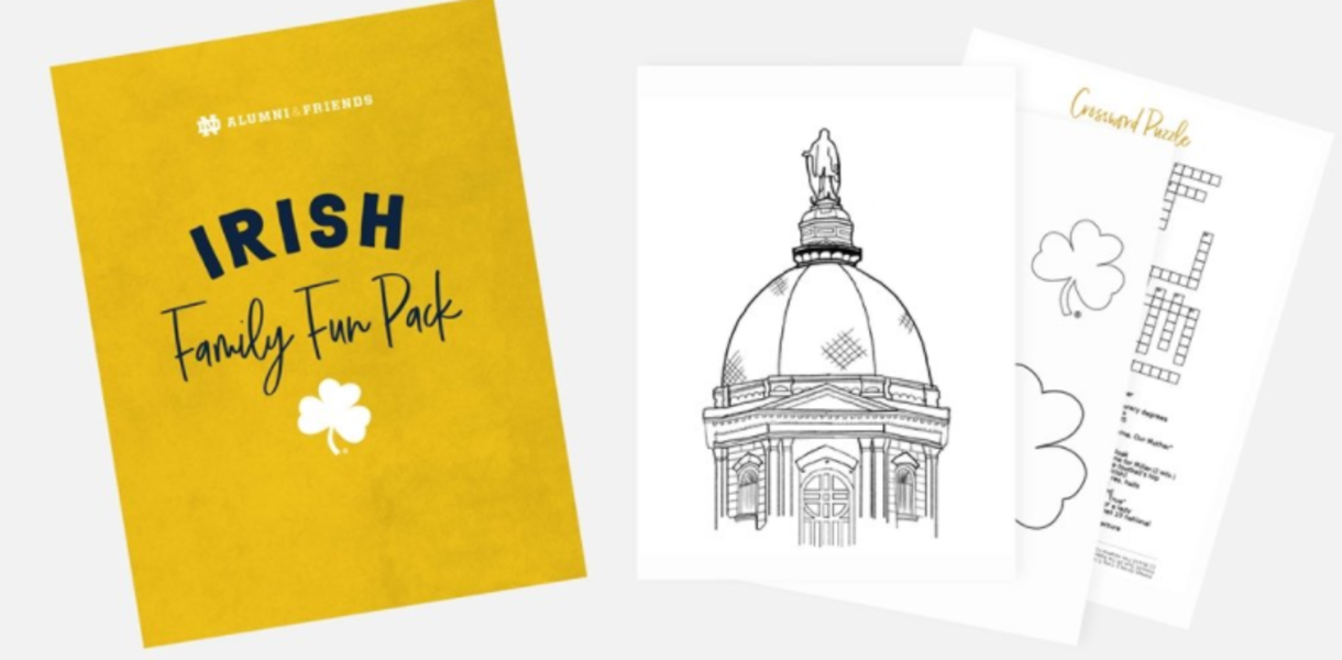 Image of virtual Notre Dame coloring book.