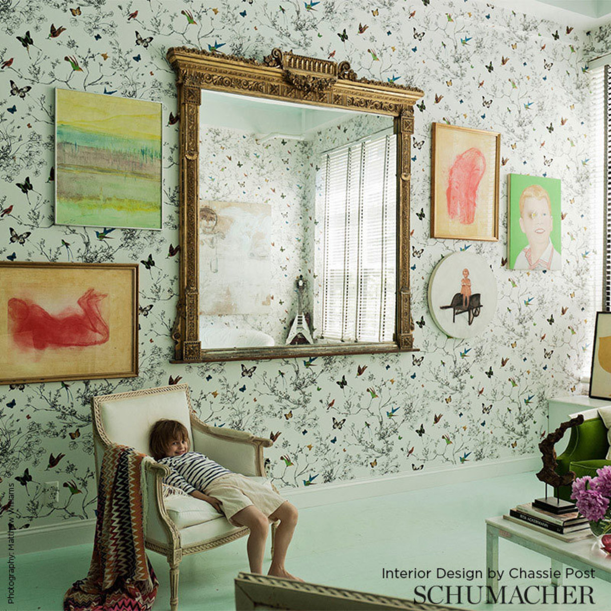 Schumacher wallpaper room design
