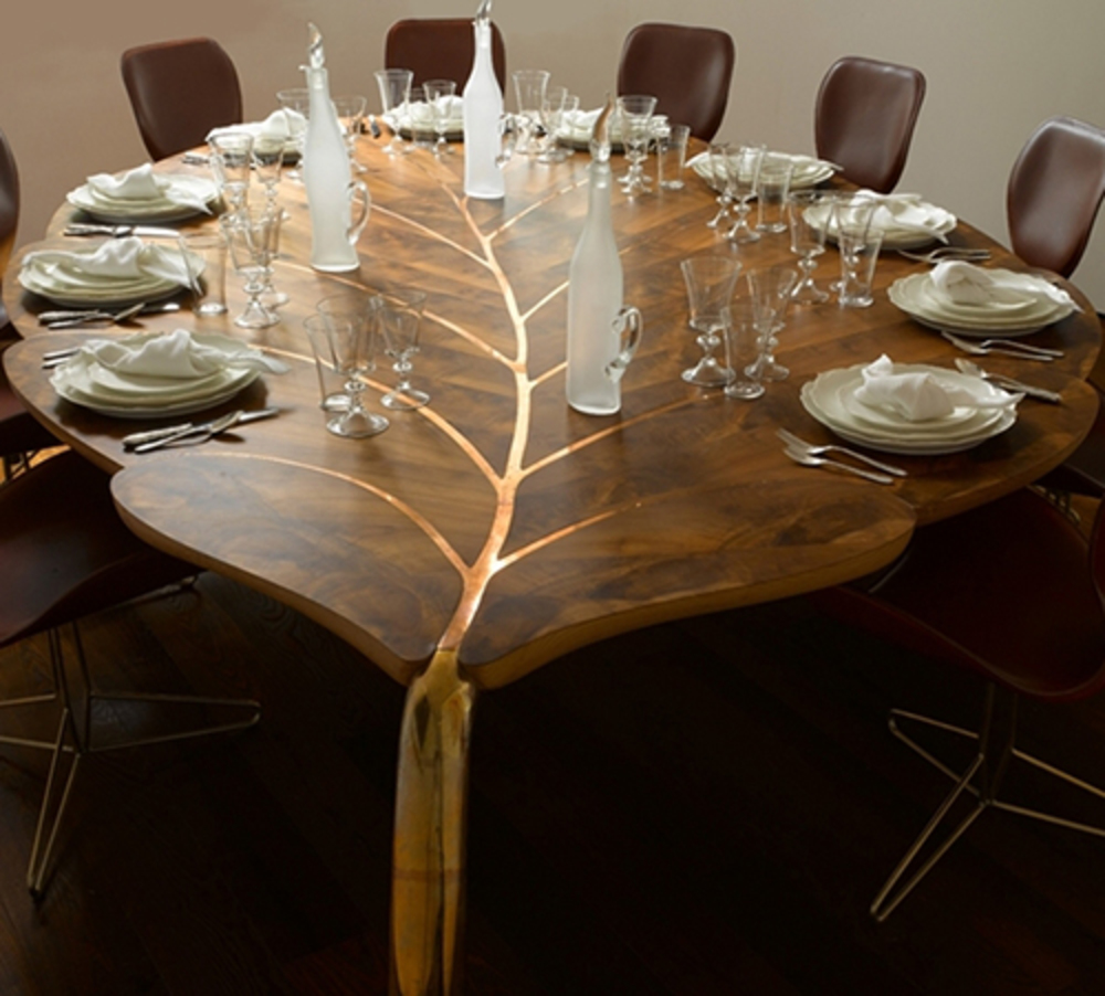 The Mulberry 3 table and chairs by John Makepeace, OBE