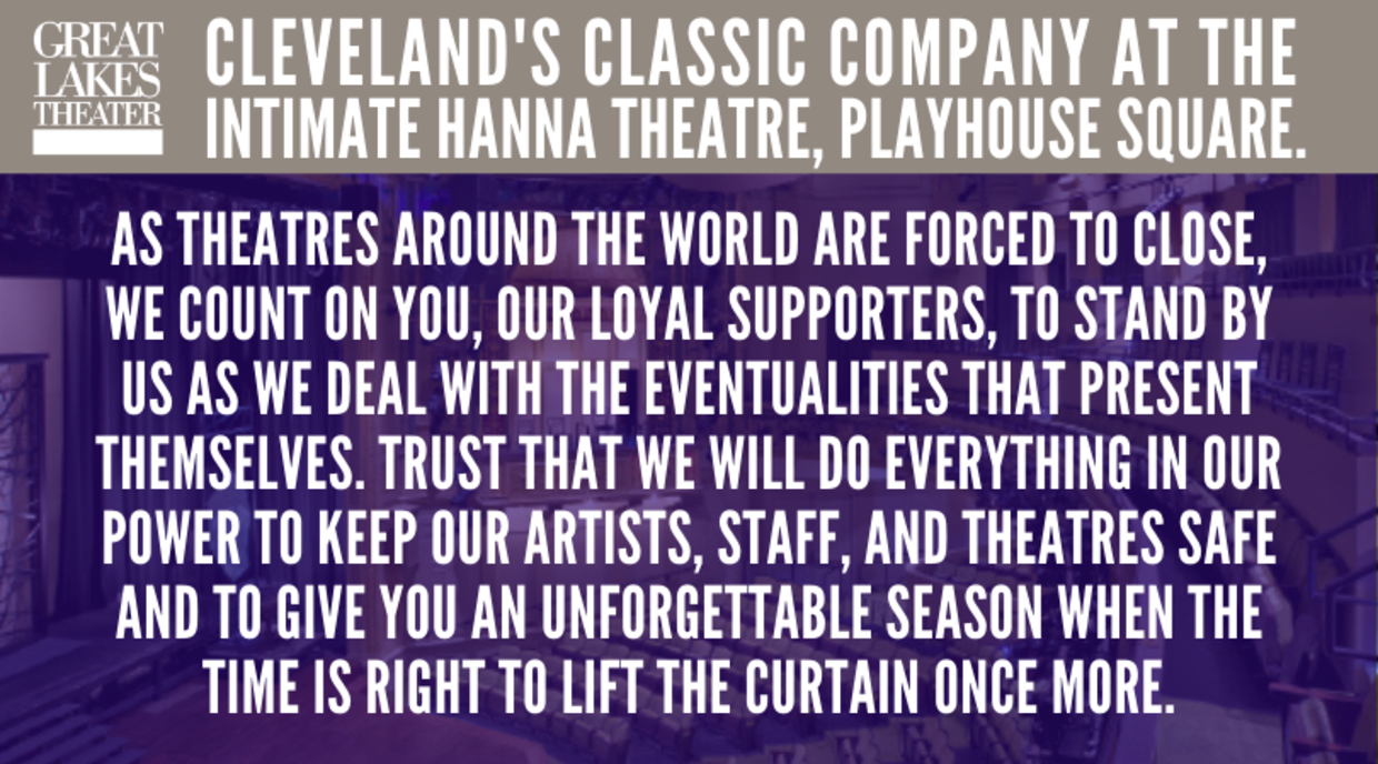 Cleveland's Classic Company at the intimate Hanna Theatre, Playhouse Square.