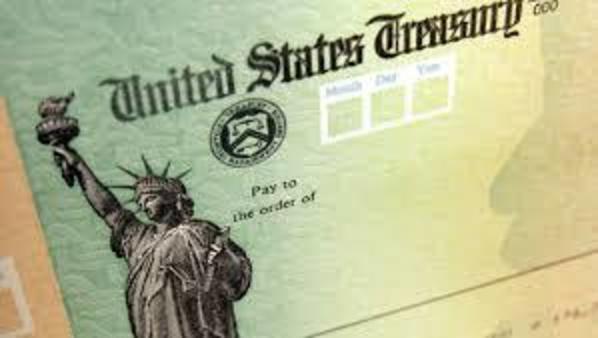Image of U.S. Treasury check.