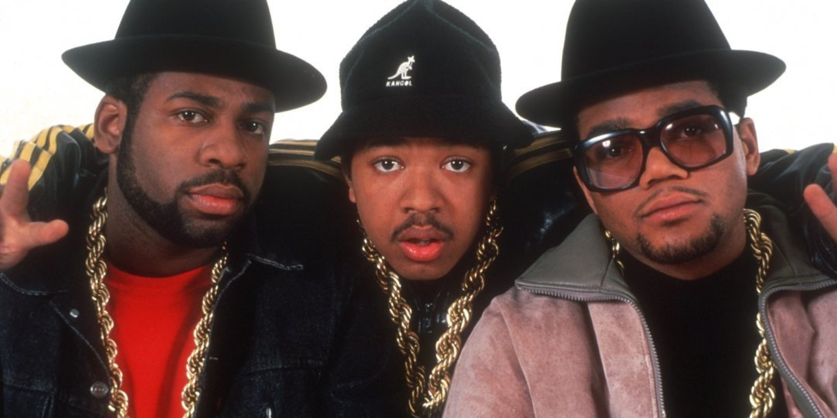 Run DMC looking mad 80s in their gold chains and bucket hats.