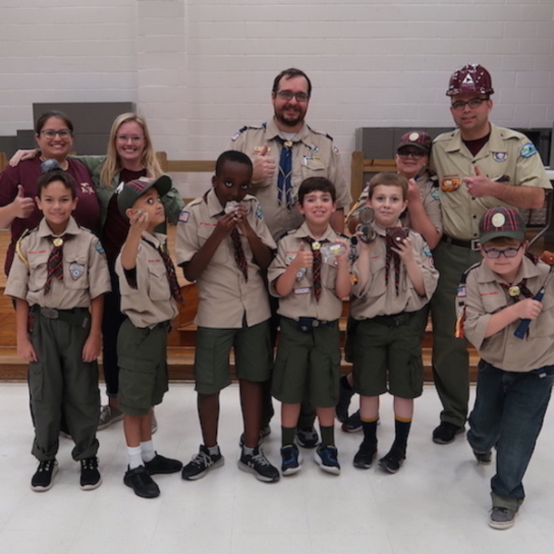 Graduate Students Honored By Scouts For Community Outreach
