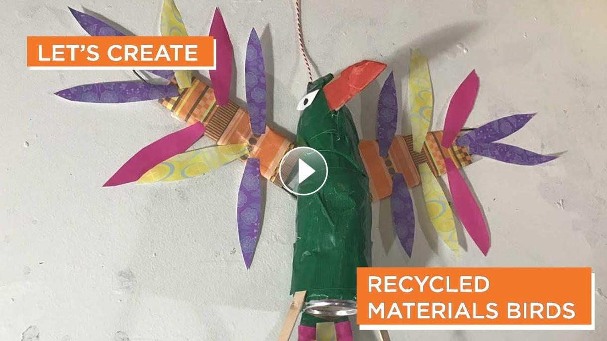 MAM Cyber Studio - recycled materials birds