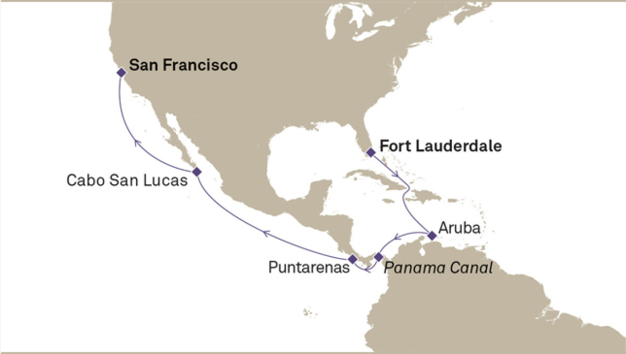 Westbound Panama Canal