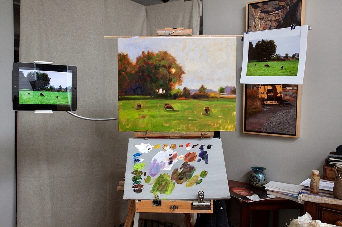 intermediate landscape oil painting virtual art class at MAM