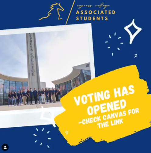 A.S. Elections Voting has opened on Canvas. Click here for the link