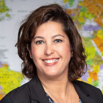 Photo of Estela Rivero with Pulte Institute for Global Development,