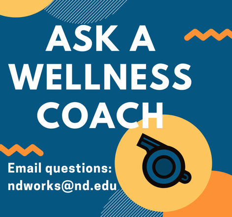 Graphic for Ask a Wellness Coach