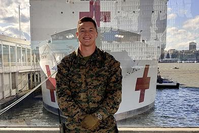 Jake aboard USNS Comfort