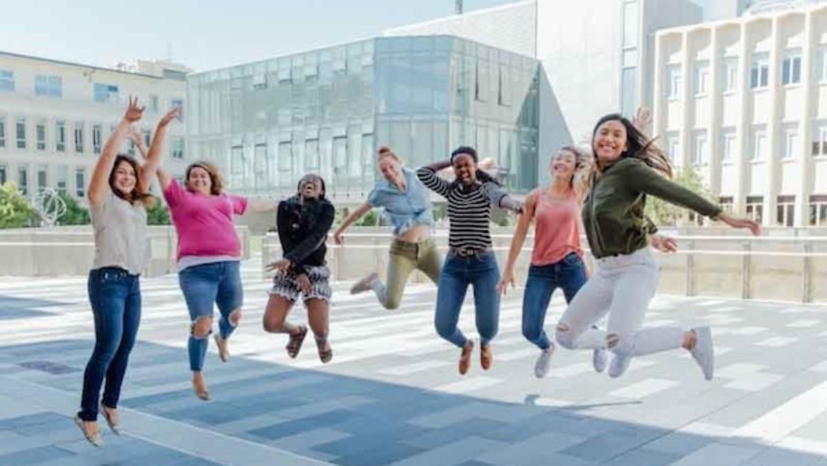 Students at Privett Plaza
