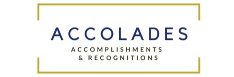Graphic for Accolades, an NDWorks feature sharing the accomplishments of and recognitions received by faculty and staff.