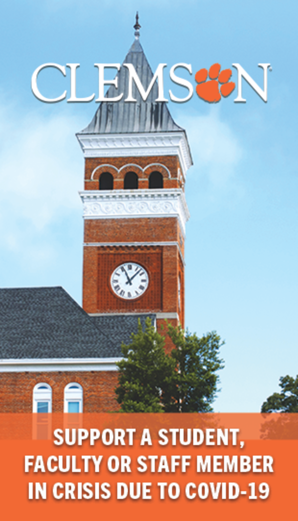 Clemson Support a student, faculty or staff member in crisis due to COVID-19