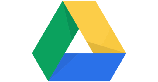 Google drive logo, green, yellow, blue lines forming a triangle