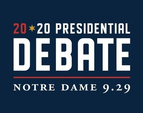 Debate at Notre Dame logo, September 29, 2020