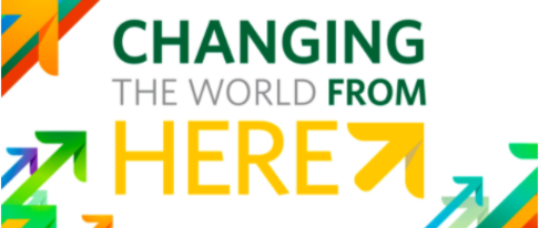 Changing the world from here logo