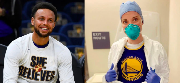 Alumni with Steph Curry