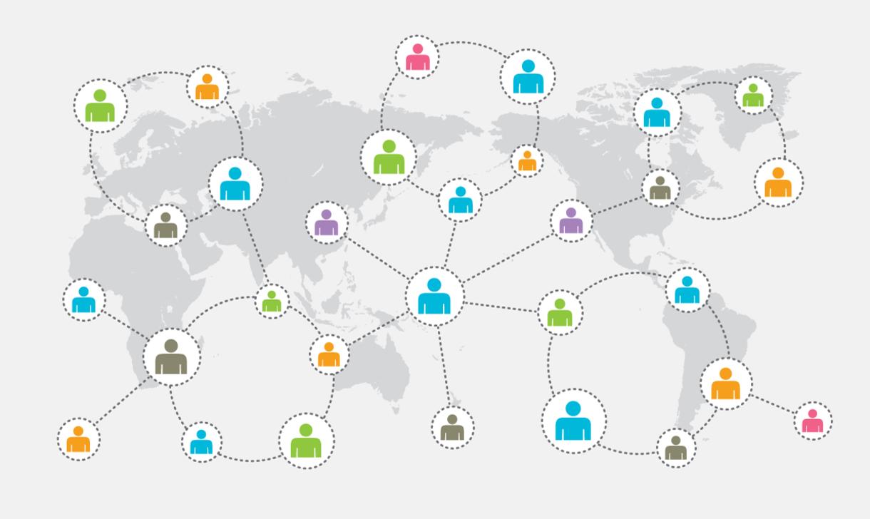 People collaborating around the globe