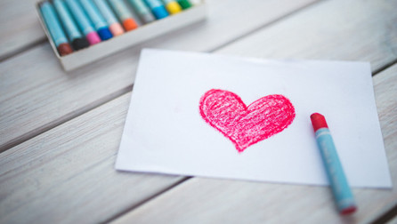 heart drawn on a piece of paper