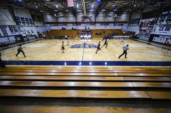 Photo of 2020 state championship basketball game
