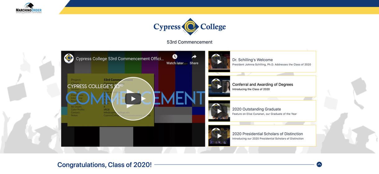 Cypress College on Marching Order