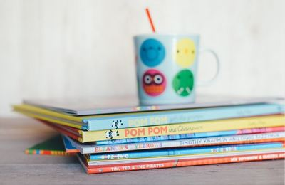 Stack of Books and Cup