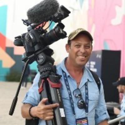 Oren Rosenfeld with camera