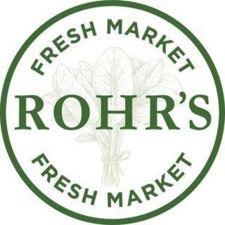 Logo for the new Rohr's Fresh Market, now open in the Morris Inn.