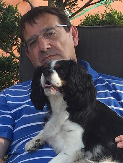 Raymond Manes and his dog