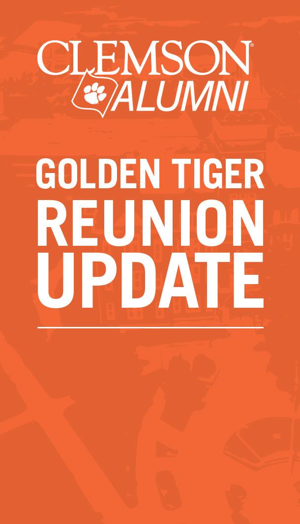 Clemson Alumni Golden Tiger Reunion Update