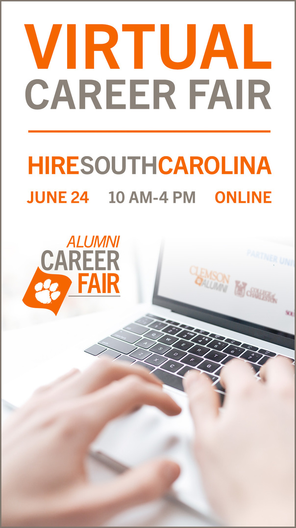 Virtual Career Fair Hire South Carolina June 24 10am-4pm Online Alumni Career Fair