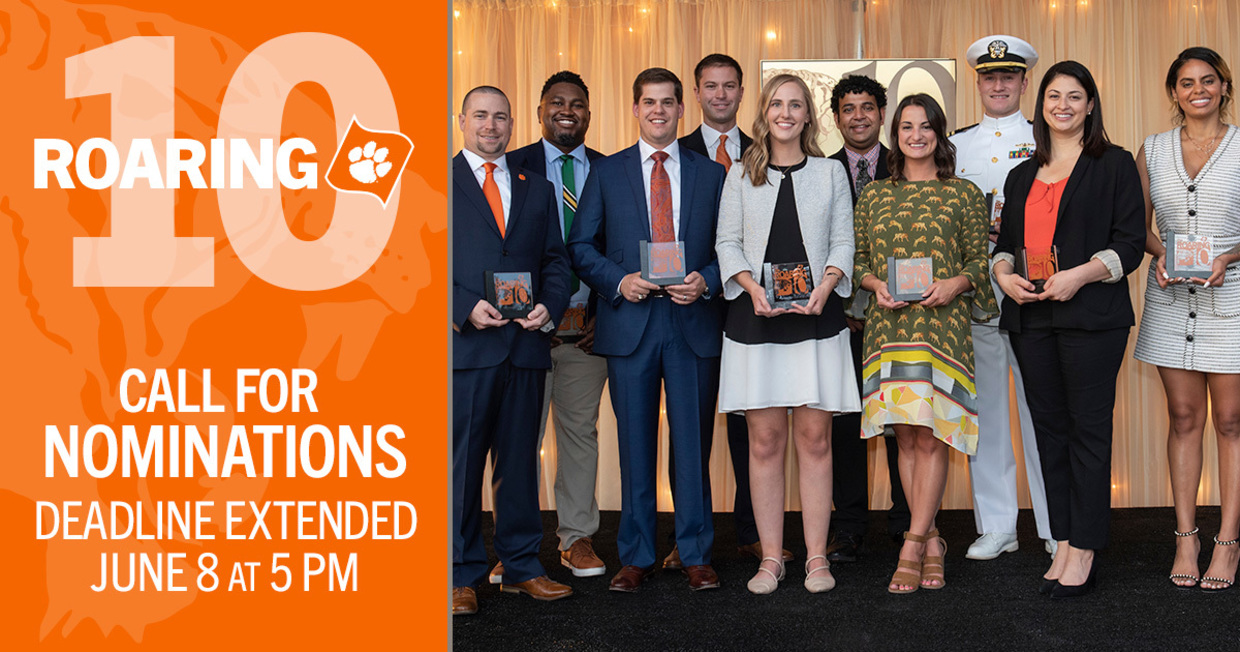 Roaring 10 Call for Nominations Deadline Extended June 8 at 5pm