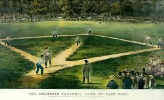 The first game of baseball played at Elysian Fields
